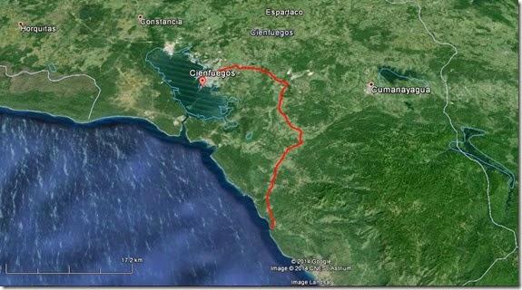 Mapa Guajimico - Cienfuegos - Cuba