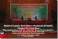 """Tari """"Mamosok"""" di Festival Lomba Seni Siswa Nasional, FLS2N TIngkat Provinsi Riau (5)"""