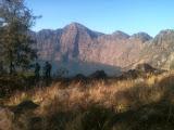View of the lake from the trail to Senaru rim on Rinjani (Dan Quinn, November 2013)