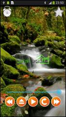 أصوات شلالات المياه مع خلفية مماثلة بتطبيق علاج الأرق والإسترخاء للأندرويد  Nature Sounds Relax