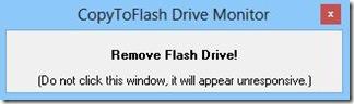 CopyToFlash copia file terminata rimuovere chiavetta USB