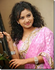 Vishnu Priya Photos in Gorgeous Pink Saree