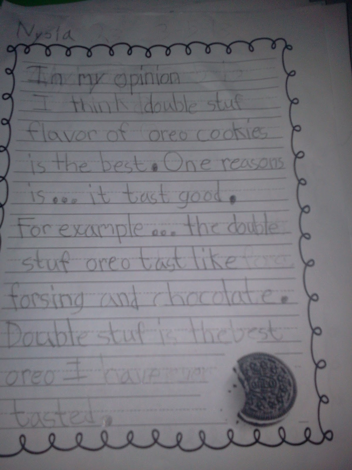 mrs  nelson u0026 39 s first grade class  oreo opinion writing part 2