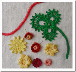 Irish Crochet practice pieces March 14_2