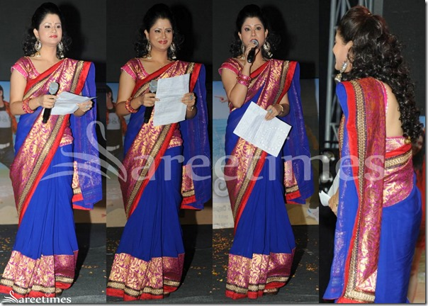 Shilpa_Chakravarthy_Blue_Saree