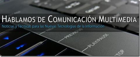 Fotografía de la portada en Facebook del blog Hablamos de Comunicación Multimedia