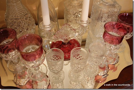 vintage glassware for valentine's day