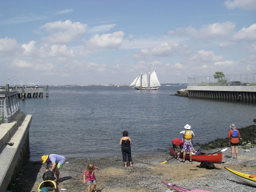 Promising way to start the day, with a schooner sailing by! That's the Pioneer, ordinarily out of the South Street Seaport, and one of 2 schooners that was offering free rides all day.
