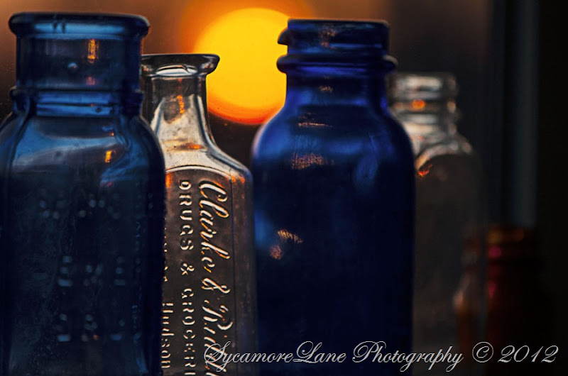 Sun through antique glass- A Country Girl's Ramblings