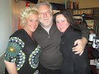 Anne Burrell with Jonathan Waxman and friend.