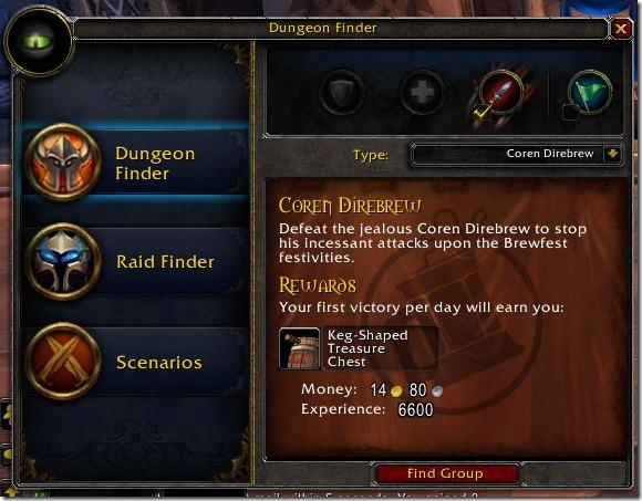 Dungeon Finder for Coren Direbrew
