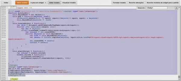 Blogger - Editar HTML 2