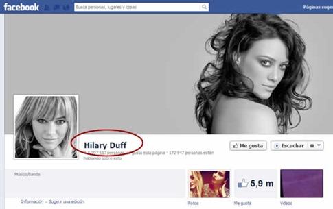 Cambiar nombre de perfil de Facebook