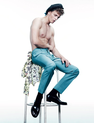 Benjamin Eidem @ Elite London/Request by Willy Vanderperre for i-D.  Styled by Olivier Rizzo.