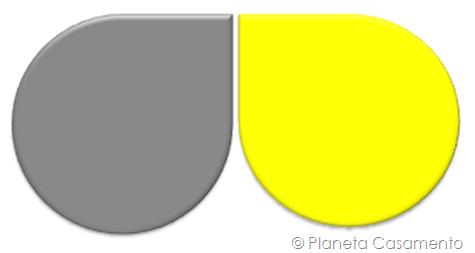 Paleta de Cores - Cinza e Amarelo - Planeta Casamento