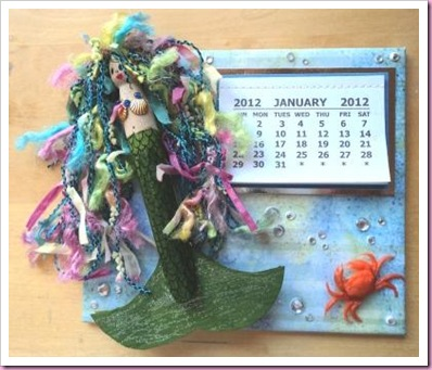 Peg Mermaid Calendar