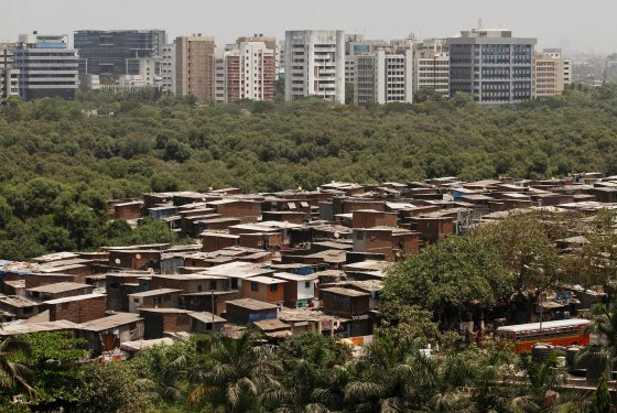 Two Mumbais: Condos and shantytowns. nymag.com