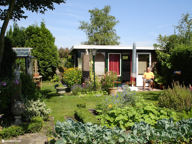 enjoying a beautiful summer day in the garden in Santpoort-Noord, Noord Holland, Netherlands
