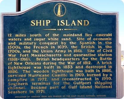 ship island sign