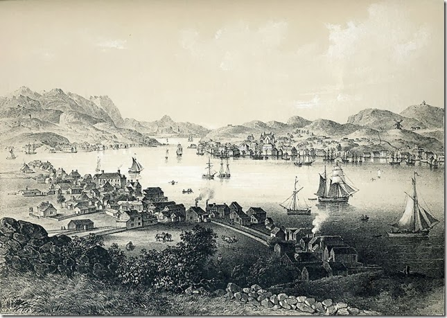 Kristiansund, Norway in the early 1840s - Wikipedia No Copyright