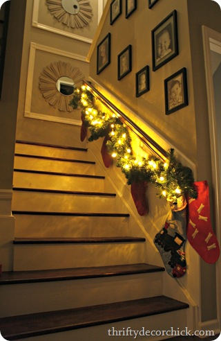 christmas stairs