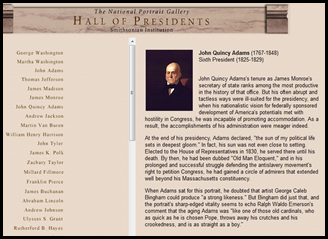 Use this website with your class to help guide research on one or many of the US presidents