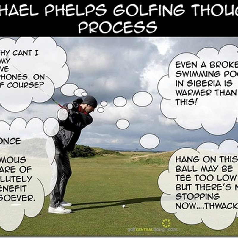 Funny Pics: Michael Phelps Golfing Thought Process and Bill Murray Doing Hilarious Stuff At Dunhill