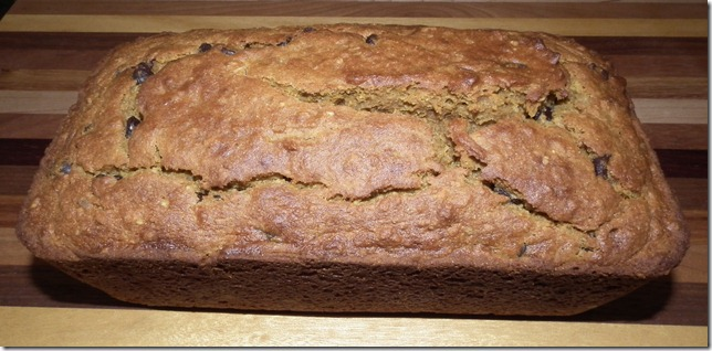 Pumpkin Banana Bread 9-29-11