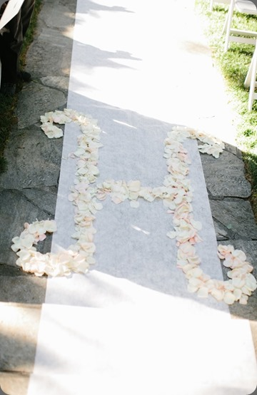 monogram CalamigosRanchWeddingRosePetals heavenly blooms
