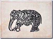 Caligraphic Elephant