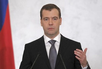 Reuters Russia Pres Dmitry Medvedev speech 480