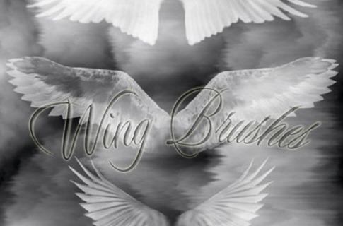 Pinceles de alas angelicales