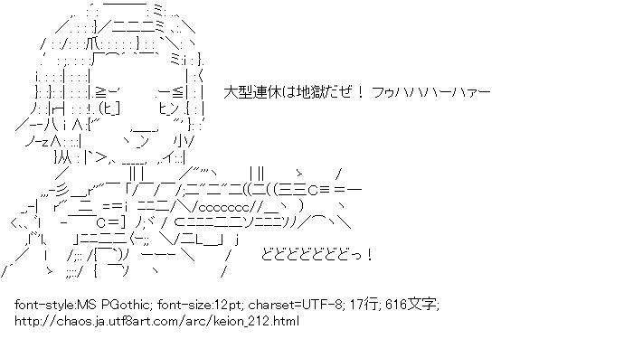 けいおん!,田井中律,マシンガン
