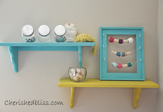 craft room shelves