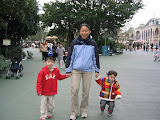 Kai, Maria, and Eidan in Tokyo Disneyland