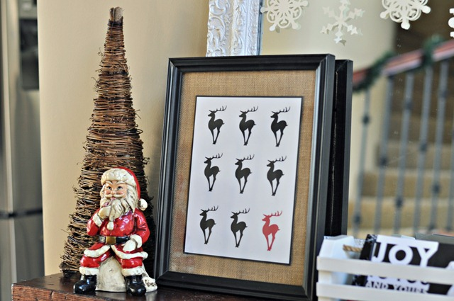 One Red Reindeer Print from Decor and the Dog