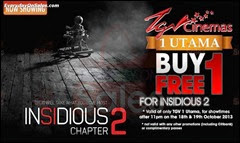 TGV Cinemas Insidious 2 Buy 1 FREE 1 Promotion 2013 Malaysia Deals Offer Shopping EverydayOnSales