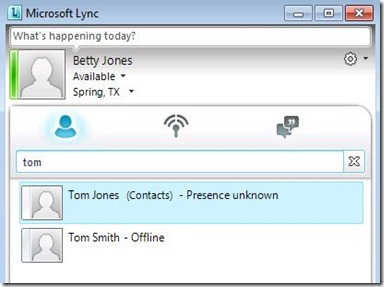how to open microsoft lync in outlook