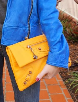 200713 awayfromtheblue Balenciaga mangue enveloper clutch RGGH mango yellow handheld