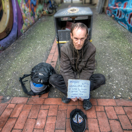 Please Help  by Mark West - People Portraits of Men