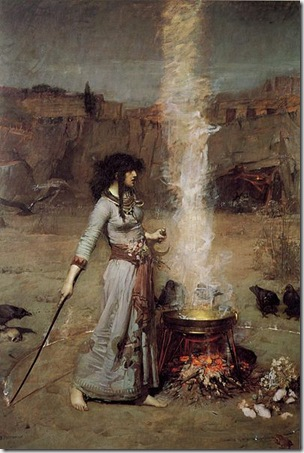 John William Waterhouse Magic Circle 1886