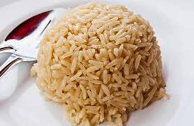 arroz integral cozido