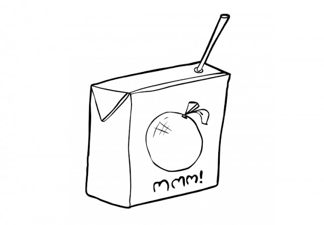 JUICE COLORING PAGES