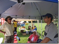 BicycleHaywoodNC members chatting in booth