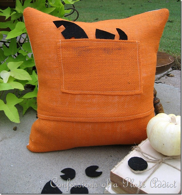 Jack-O-Lantern Pillow Back