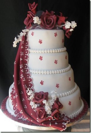 indian draped wedding cake