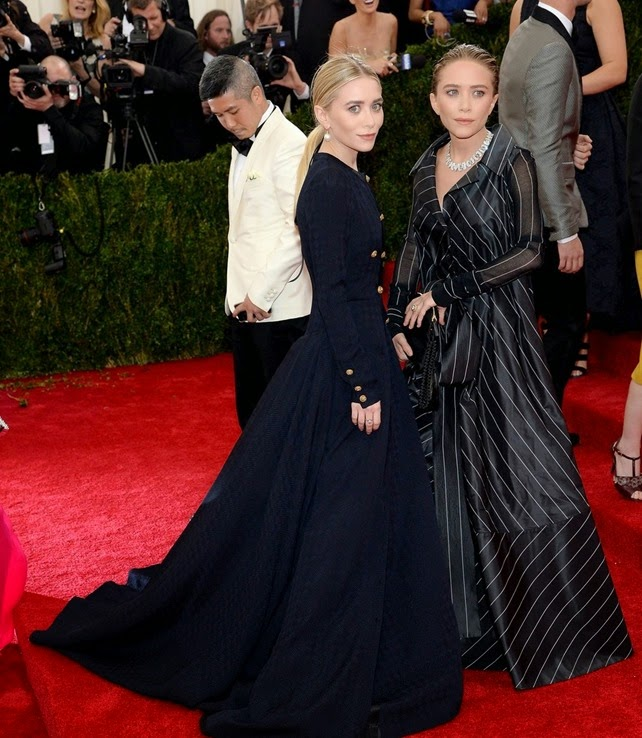"NEW YORK, NY - MAY 05:  Ashley Olsen (L) and Mary-Kate Olsen attend the ""Charles James: Beyond Fashion"" Costume Institute Gala at the Metropolitan Museum of Art on May 5, 2014 in New York City.  (Photo by Dimitrios Kambouris/Getty Images)"