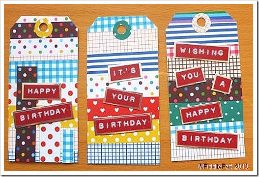 Masking Sticker Set Gift Tags WholePort
