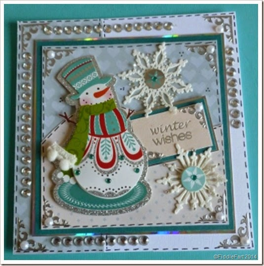 Jewelled snowman card