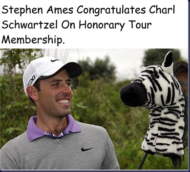 Charl Schwartzel Funny Pic